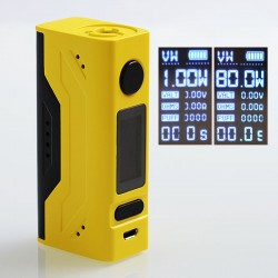 Authentic Smoant Battlestar Mini 80W TC VW Variable Wattage Box Mod - Yellow, 1~80W, 1 x 18650