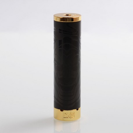 Authentic CKS Fujin 24 Hybrid Mechanical Mod - Black, Stainless Steel, 1 x 18650, 24mm Diameter