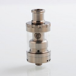 Authentic Thunderhead Creations THC Fog Rider RTA Rebuildable Tank Atomizer - Silver, Stainless Steel, 2.5ml, 22mm Diameter