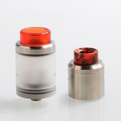 Authentic One Top RTA Rebuildable Tank Atomizer - Silver, Stainless Steel + PC, 3ml, 24mm Diameter