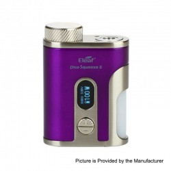 Authentic Eleaf Pico Squeeze 2 100W TC VW Variable Wattage Squonk Box Mod - Purple, 1 x 18650 / 21700, 8ml