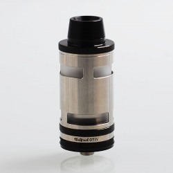 Typhoon GT4 Style RTA Rebuildable Tank Atomizer - Black, 316 Stainless Steel, 5ml, 26mm Diameter