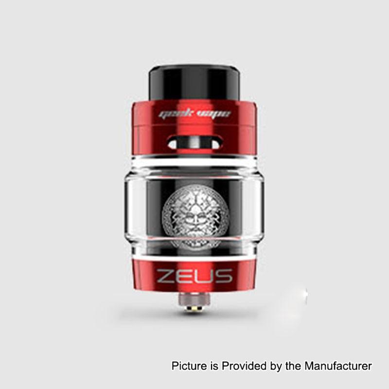 Authentic Geekvape Zeus Dual Rta Red Black 4ml 26mm Atomizer