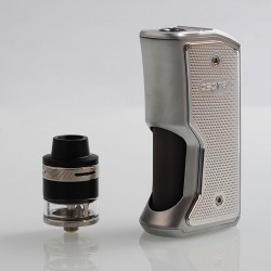 Authentic Aspire Feedlink Squonk Box Mod + Revvo Boost Tank Kit - Silver, 1 x 18650, 7ml + 2ml