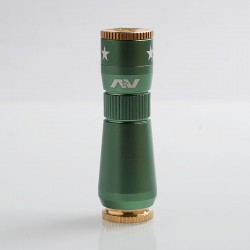 AV Workman Style Hybrid Mechanical Mod - Green, Aluminum + Brass, 1 x 18650, 28mm Diameter