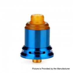 Authentic Arctic Dolphin Rexx RDA Rebuildable Dripping Atomizer w/ BF Pin - Blue, Stainless Steel, 18mm Diameter
