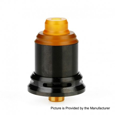 Authentic Arctic Dolphin Rexx RDA Rebuildable Dripping Atomizer w/ BF Pin - Black, Stainless Steel, 18mm Diameter