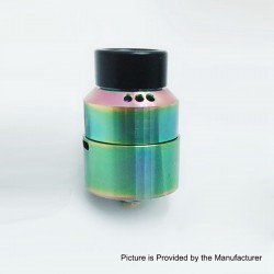 Moseone V2 Style RDA Rebuildable Dripping Atomizer - Rainbow, Stainless Steel, 24mm Diameter