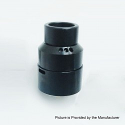 Moseone V2 Style RDA Rebuildable Dripping Atomizer - Black, Stainless Steel, 24mm Diameter