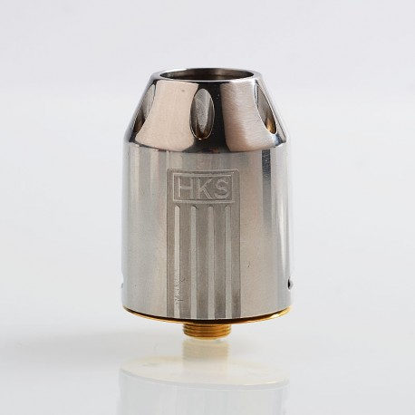 Authentic HKS SQV RDA Rebuildable Dripping Atomizer - Silver, 316 Stainless Steel, 24mm Diameter