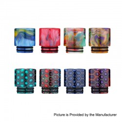 Authentic Aleader 810 Drip Tip Kit for TFV12 / TFV8 / Goon / Kennedy / Apocalypse - Random Color, Resin (8 PCS)