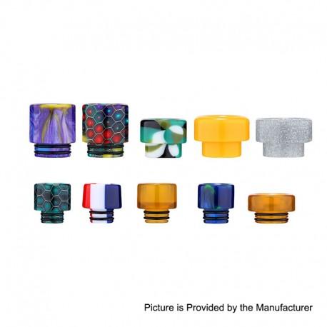 Authentic Aleader 510 + 810 Drip Tip Kit for RTA / RDA Atomizer - Random Color, Resin + PEI (10 PCS)