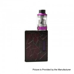 Authentic Tesla DB 219W TC VW Variable Wattage Box Mod + Tallica Mini Tank Kit - Purple, PEI, 7~219W, 4ml, 2 x 18650