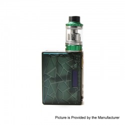Authentic Tesla DB 219W TC VW Variable Wattage Box Mod + Tallica Mini Tank Kit - Green, PEI, 7~219W, 4ml, 2 x 18650