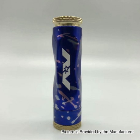 AV Gyre Slow Twist Style Hybrid Mechanical Mod - Blue, Brass + Aluminum, 1 x 18650