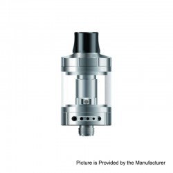 Authentic Vapefly Nicolas MTL Sub Ohm Tank Clearomizer TPD Version - Silver, Stainless Steel, 2ml, 0.6 Ohm, 22mm Diameter