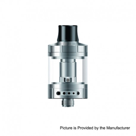 Authentic Vapefly Nicolas MTL Sub Ohm Tank Clearomizer Standard Version - Silver, Stainless Steel, 3ml, 0.6 Ohm, 22mm Diameter