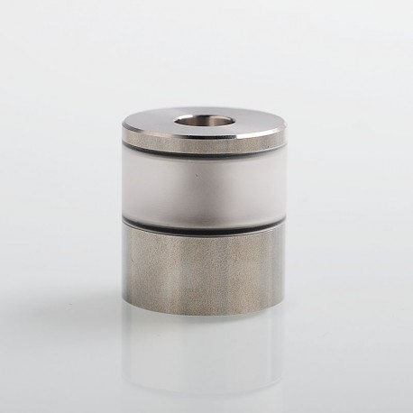 Replacement Tank Tube + Top Lid + Chimney for Dvarw V2 Style DL RTA - Silver, 316 Stainless Steel + PC, 3.5ml