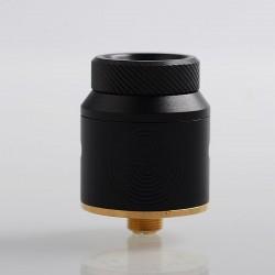 Authentic Advken Artha RDA Rebuildable Dripping Atomizer w/ BF Pin - Full Black, Stainless Steel, 24mm Diameter