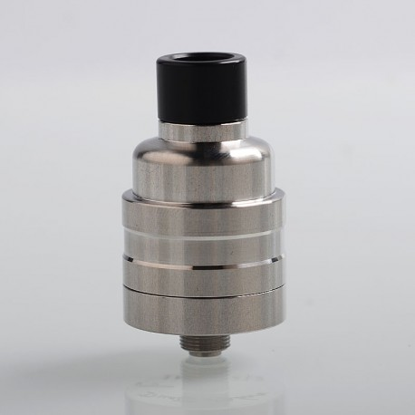 Kindbright Duetto Reborn Style RDA Rebuildable Dripping Atomizer w/ BF Pin - Silver, 316 Stainless Steel, 22mm Diameter