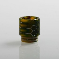 810 Honeycomb Drip Tip for TFV8 / TFV12 Tank / 528 Goon / Kennedy / Reload RDA - Yellow, Resin, 18mm