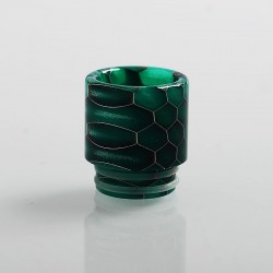 810 Honeycomb Drip Tip for TFV8 / TFV12 Tank / 528 Goon / Kennedy / Reload RDA - Green, Resin, 18mm