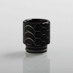 810 Honeycomb Drip Tip for TFV8 / TFV12 Tank / 528 Goon / Kennedy / Reload RDA - Black, Resin, 18mm