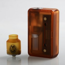 Authentic Vzone Simply Squonk Mechanical Box Mod + BF RDA Kit - Frosted Gold, 1 x 18650 / 20700 / 21700, 5.5ml, 24.5mm Diameter