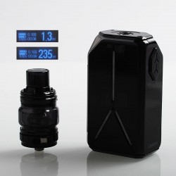 Authentic Eleaf Lexicon 235W TC VW Variable Wattage Box Mod + ELLO Duro Tank Kit - Black, 2 x 18650, 6.5ml, 0.15 / 0.2 Ohm