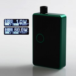 SXK BB Style 60W All-in-One Box Mod Kit w/ USB Port - Green, Aluminum Alloy, 1 x 18650, Evolv DNA 60