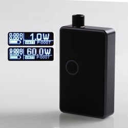 SXK BB Style 60W All-in-One Box Mod Kit w/ USB Port - Grey + Purple, Aluminum Alloy, 1 x 18650, Evolv DNA 60