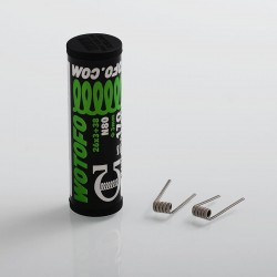 Authentic Wotofo Tri Core Fused Clapton N80 Pre-built Coil - 0.17 Ohm, 26GA x 3 + 38GA (10 PCS)