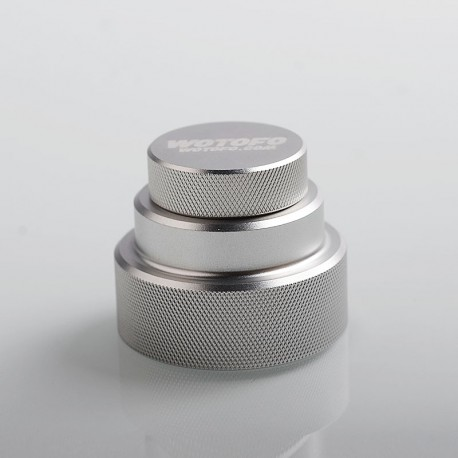 Authentic Wotofo Easy Fill Squonk Cap for 100ml E-juice Bottle / BF Squonk Box Mod - Silver, Aluminum