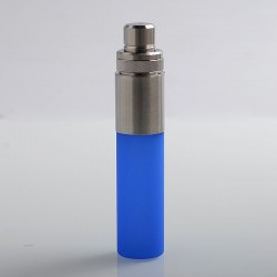 Authentic Wotofo Stentorian Easy Refill Squonk Bottle - Blue Stainless Steel + Silicone, 30ml