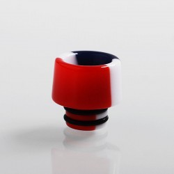 510 Replacement Drip Tip for RDA / RTA / Sub Ohm Tank Atomizer - Red + White + Blue, Resin, 14mm