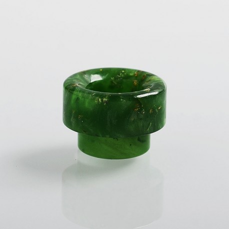 810 Replacement Drip Tip for 528 Goon / Reload / Battle RDA - Green, Resin, 12mm