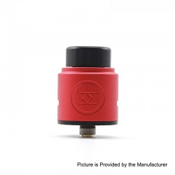 Authentic Advken Breath RDA Rebuildable Dripping Atomizer w/ BF Pin - Red, Aluminum + Stainless Steel, 24mm Diameter