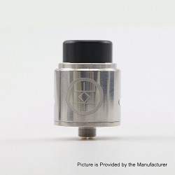 Authentic Advken Breath RDA Rebuildable Dripping Atomizer w/ BF Pin - Silver, Stainless Steel, 24mm Diameter