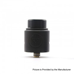 Authentic Advken Breath RDA Rebuildable Dripping Atomizer w/ BF Pin - Black, Aluminum + Stainless Steel, 24mm Diameter