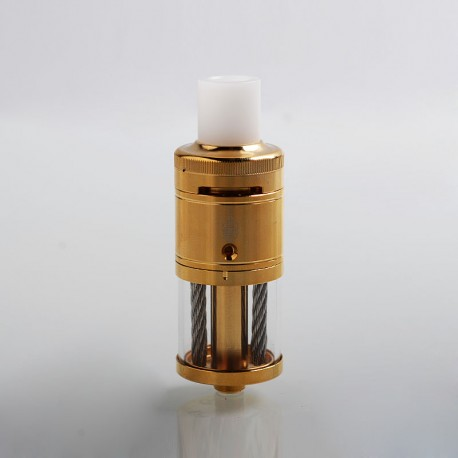 Stutt-Art Bogati Style RTA Rebuildable Tank Atomizer - Gold, 316 Stainless Steel, 5ml, 23mm Diameter