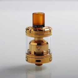 Authentic Advken Manta MTL RTA Rebuildable Tank Atomizer - Gold, Stainless Steel, 3ml, 24mm Diameter