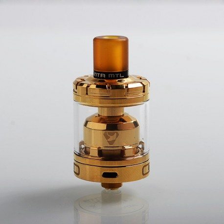 Authentic Advken Manta MTL RTA Rebuildable Tank Atomizer - Gold, Stainless Steel, 3ml, 24mm Diameter