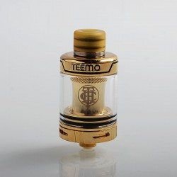 Authentic Thunderhead Creations THC Teemo Clearomizer - Gold, Stainless Steel, 0.55ohm, 2.5ml, 22mm Diameter
