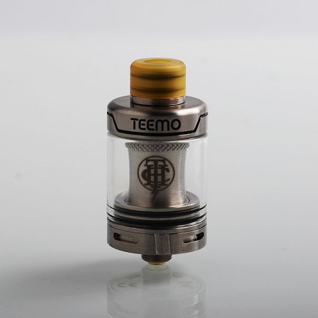 Authentic Thunderhead Creations THC Teemo Clearomizer - Silver, Stainless Steel, 0.55ohm, 2.5ml, 22mm Diameter