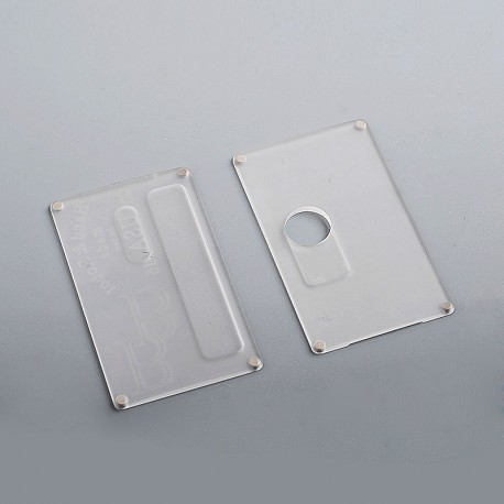 SXK Replacement Cover Panel for BB Style Box Mod - Frosted Translucent, Acrylic