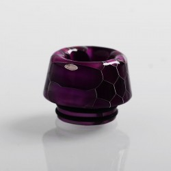 810 Replacement Drip Tip for TFV8 / TFV12 Tank / 528 Goon / Kennedy / Reload RDA - Purple, Resin, 13.6mm