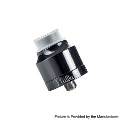 Authentic Ystar Nuwa RDA Rebuildable Dripping Atomizer w/ BF Pin - Black, Ceramic, 24mm Diameter