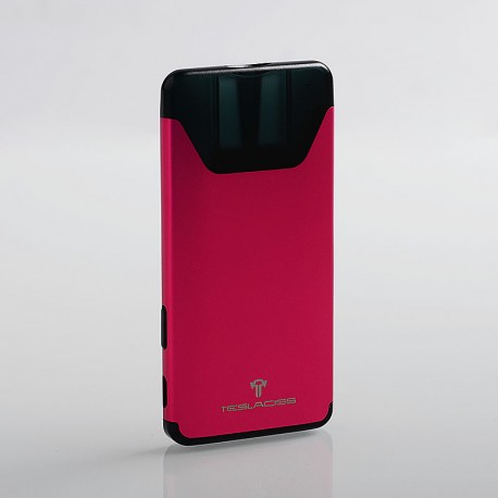 Authentic Tesla Silver 350mAh All-in-one Pod Starter Kit - Pink, Aluminum + PC, 1.4ohm, 2ml
