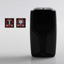 Authentic Wotofo Flux 200W VW Variable Wattage Box Mod - Gun Metal, Zinc Alloy, 5~200W, 2 x 18650
