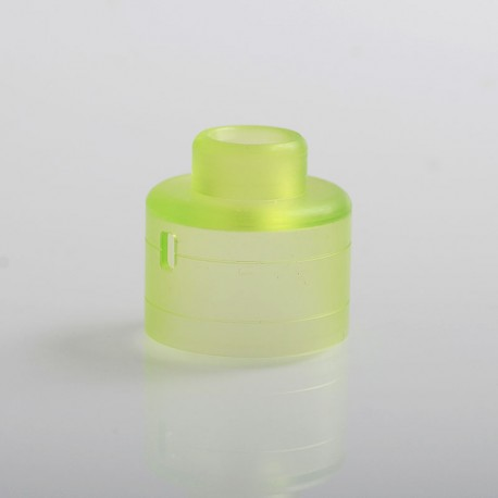 Replacement Top Cap for Haku Style RDA Atomizer - Green, PMMA, 22mm Diameter